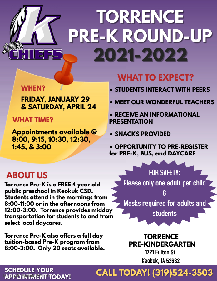Torrence Pre-K Round-Up