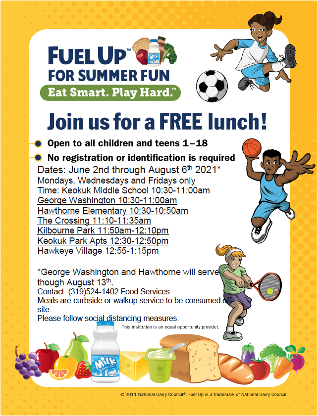 Summer Lunch Program Begins June 2nd